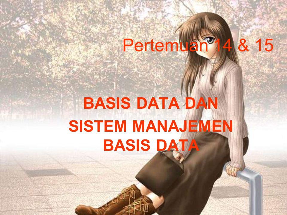 Pertemuan 14 & 15 BASIS DATA DAN SISTEM MANAJEMEN BASIS DATA