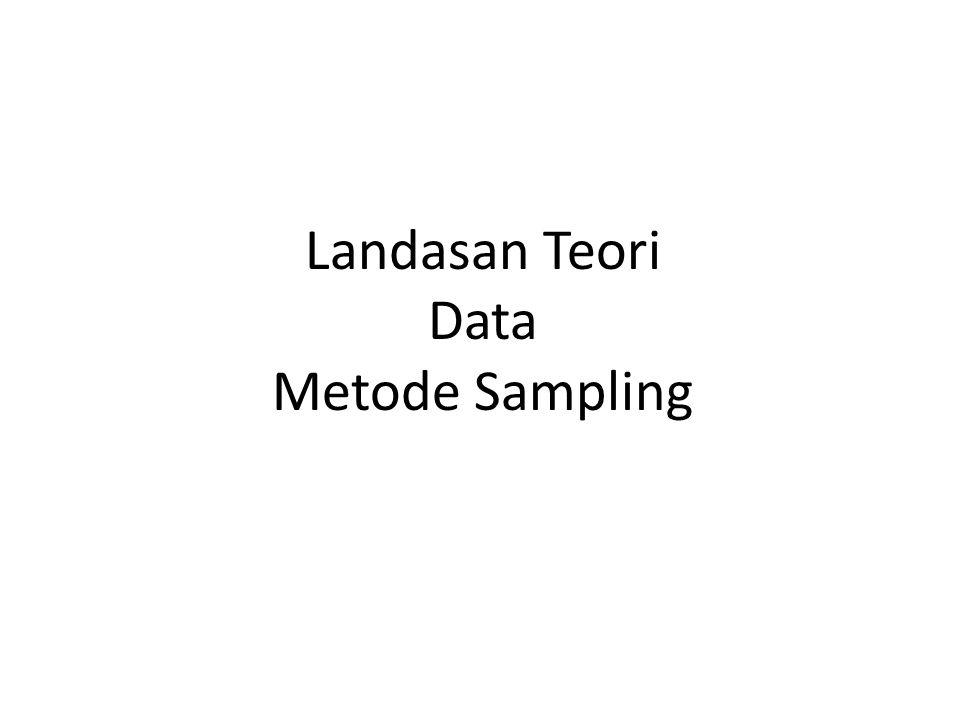 Landasan Teori Data Metode Sampling