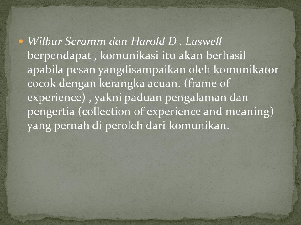 Wilbur Scramm dan Harold D.
