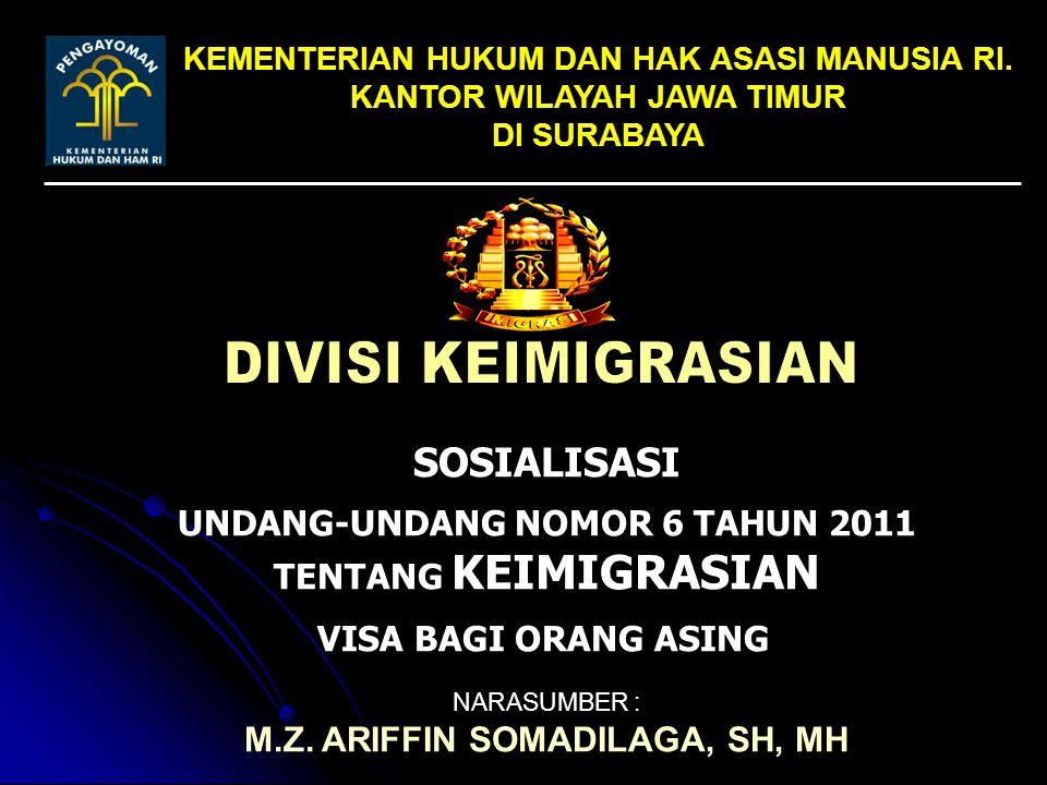 Undang-Undang Nomor 6 Tahun 2011 tentang Keimigrasian Penjelasan : Visa Tinggal Terbatas diberikan kepada Orang Asing yang bermaksud bertempat tinggal dalam jangka waktu yang terbatas dan dapat juga diberikan kepada orang asing eks warga negara Indonesia yang telah kehilangan kewarganegaraan Indonesia berdasarkan Undang-Undang tentang Kewarganegaraan Republik Indonesia dan bermaksud untuk kembali ke Indonesia dalam rangka memperoleh kewarganegaraan Indonesia kembali sesuai dengan ketentuan peraturan perundang-undangan VISA TINGGAL TERBATAS