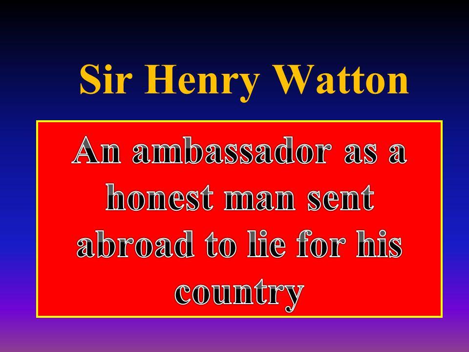 Sir Henry Watton