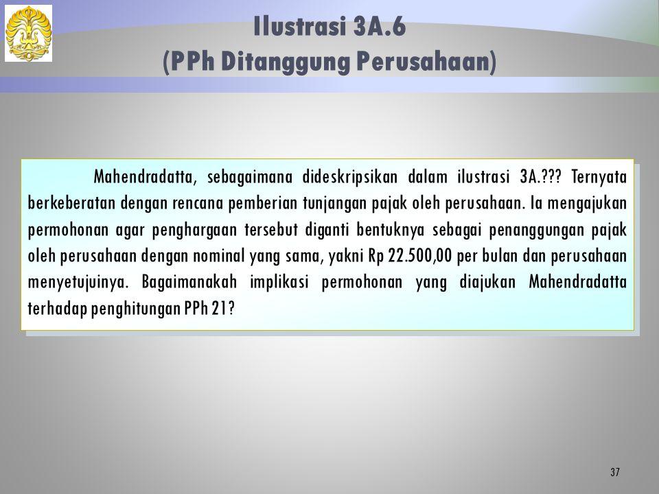 Ilustrasi 3A.6 (PPh Ditanggung Perusahaan) 37 Mahendradatta, sebagaimana dideskripsikan dalam ilustrasi 3A.??? Ternyata berkeberatan dengan rencana pe