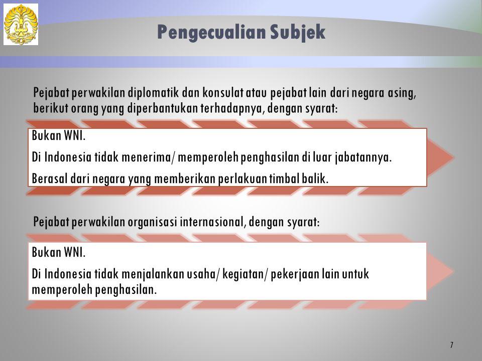 Dasar Pengenaan (1) Berlaku PKP = Penghasilan netto - PTKP Pegawai tetap.