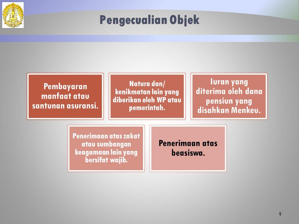 Tata Cara Penghitungan Penghasilan Bukan Pegawai Bersifat Berkesinambungan Memiliki NPWP dan berpenghasilan hanya dari satu pemberi kerja.
