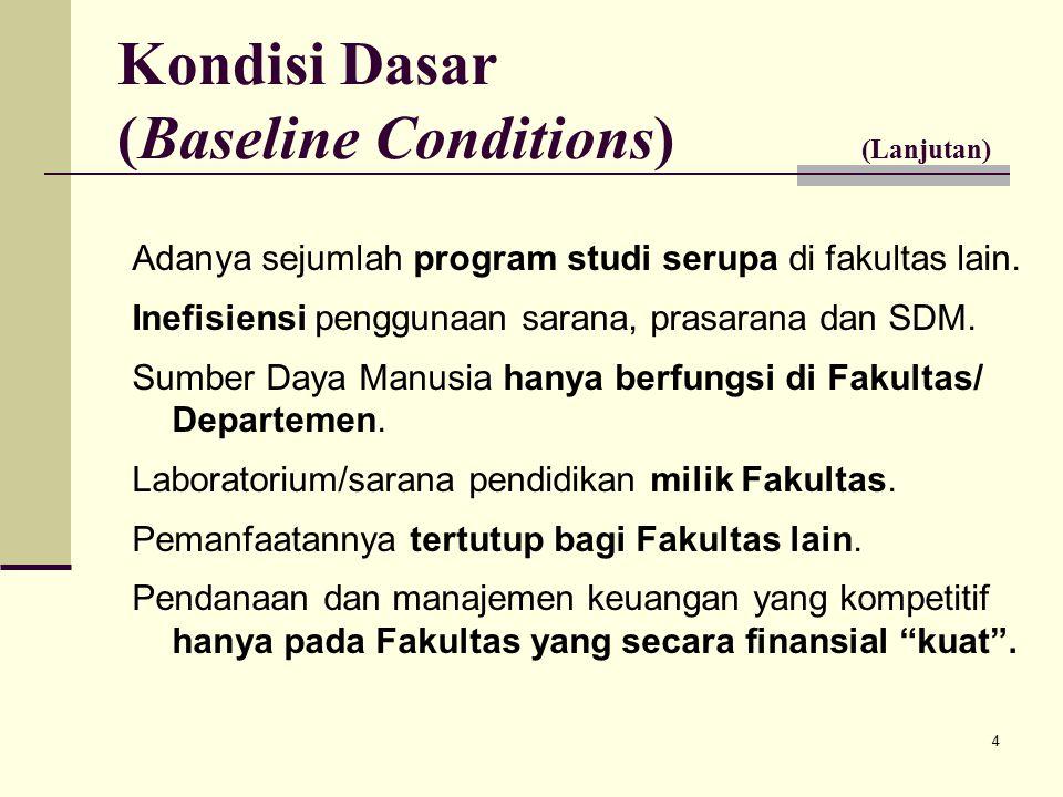 4 Adanya sejumlah program studi serupa di fakultas lain.