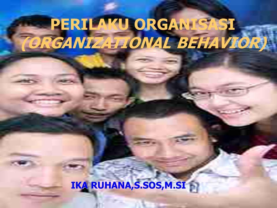 PERILAKU ORGANISASI (ORGANIZATIONAL BEHAVIOR) IKA RUHANA,S.SOS,M.SI