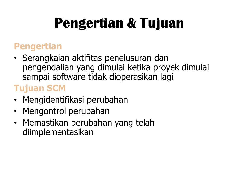 Manajemen versi dan release Membuat suatu rencana versi sistem perangkat lunak.