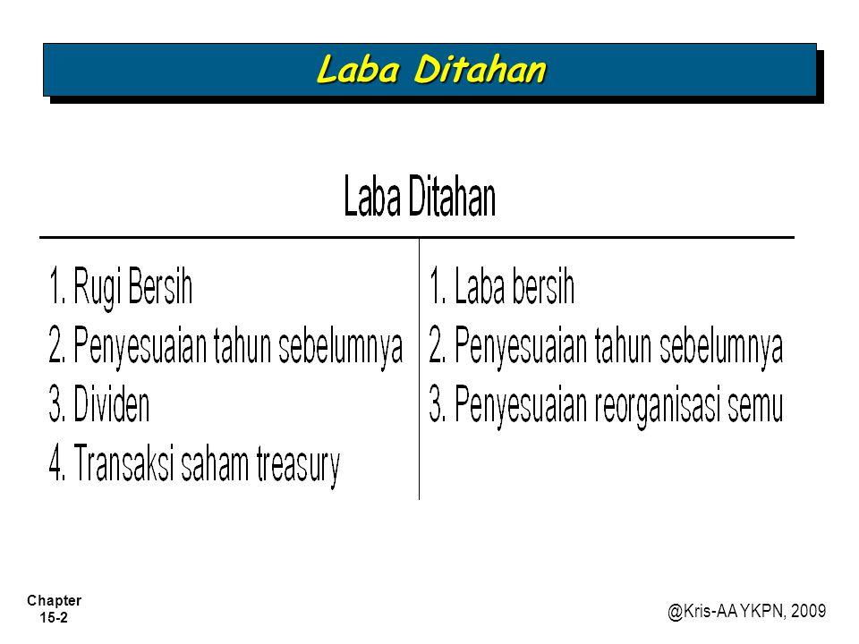 Chapter 15-2 @Kris-AA YKPN, 2009 Laba Ditahan