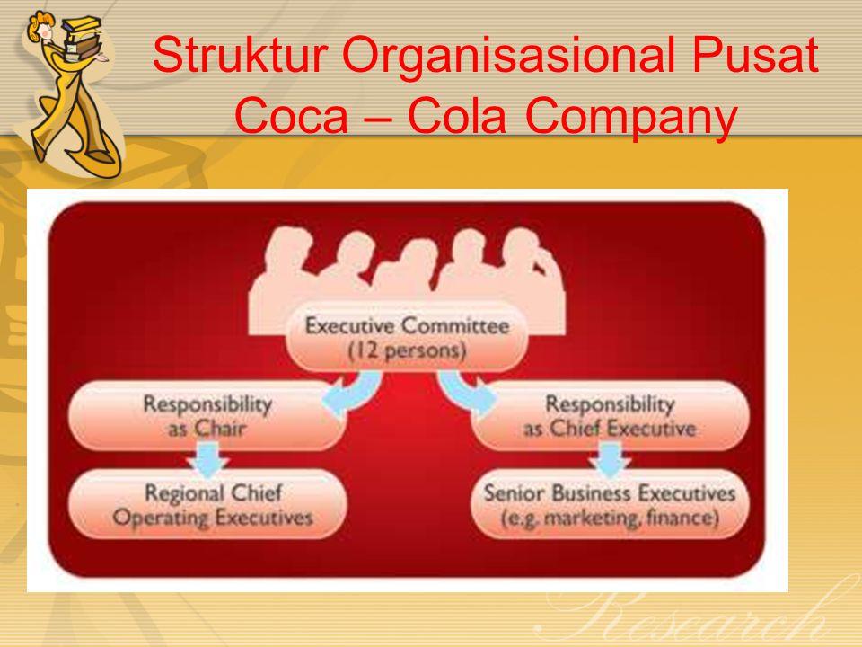 Struktur Organisasional Pusat Coca – Cola Company