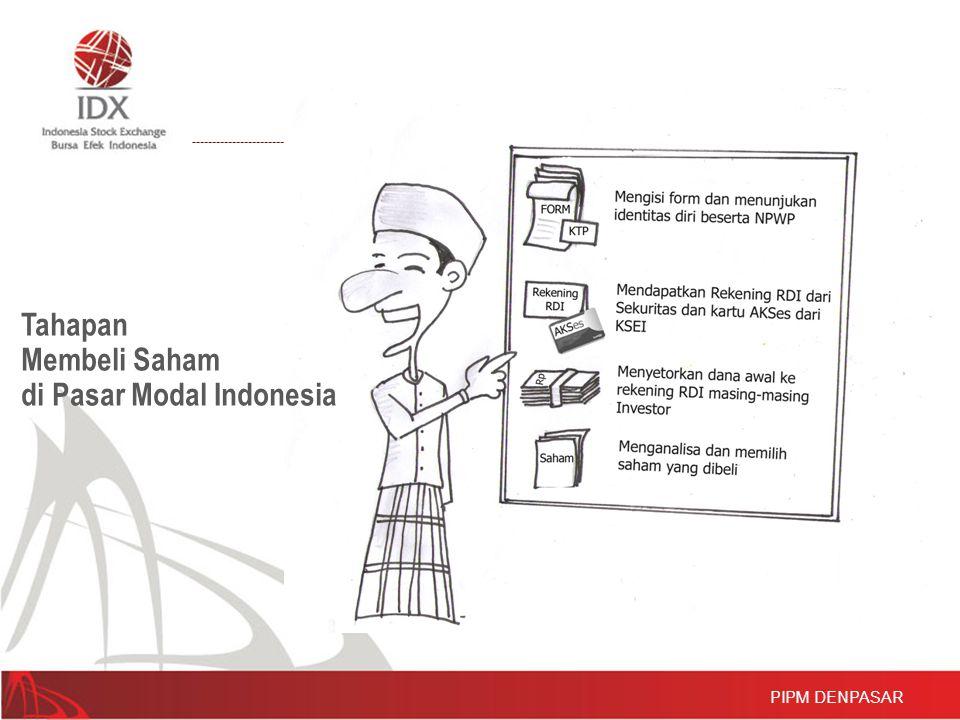 PIPM DENPASAR Tahapan Membeli Saham di Pasar Modal Indonesia