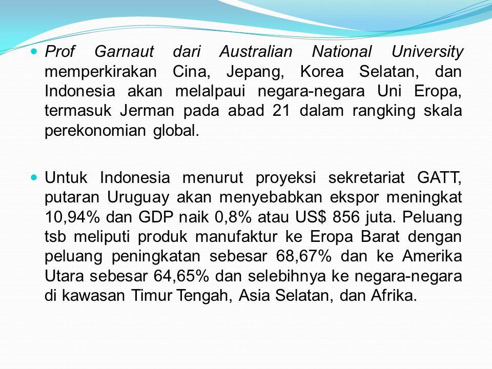 Prof Garnaut dari Australian National University memperkirakan Cina, Jepang, Korea Selatan, dan Indonesia akan melalpaui negara-negara Uni Eropa, term
