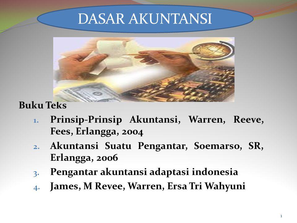 Buku Teks 1.Prinsip-Prinsip Akuntansi, Warren, Reeve, Fees, Erlangga, 2004 2.
