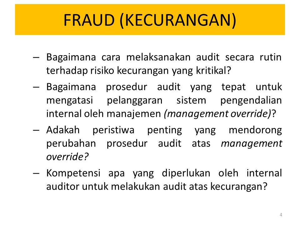 FRAUD (KECURANGAN) – Bagaimana cara melaksanakan audit secara rutin terhadap risiko kecurangan yang kritikal? – Bagaimana prosedur audit yang tepat un