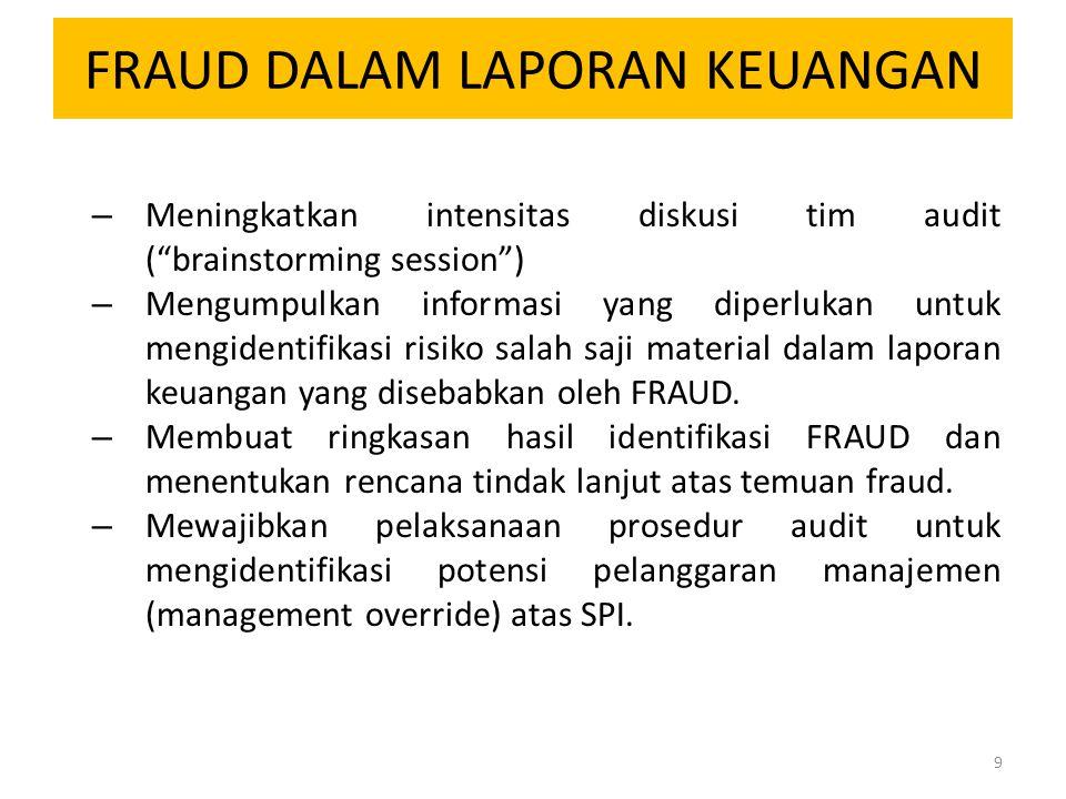 FRAUD DALAM LAPORAN KEUANGAN – Melakukan evaluasi hasil audit.
