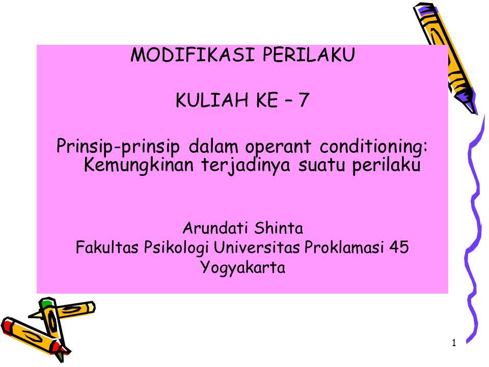2 1)Antecedents = stimulus, setting, prompts, stimulus yang diskriminatif.