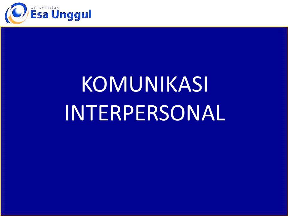 pengertian Komunikasi interpersonal adalah proses pertukaran informasi diantara seseorang dengan seorang lainnya atau biasanya di antara dua orang yang dapat langsung diketahui balikannya.