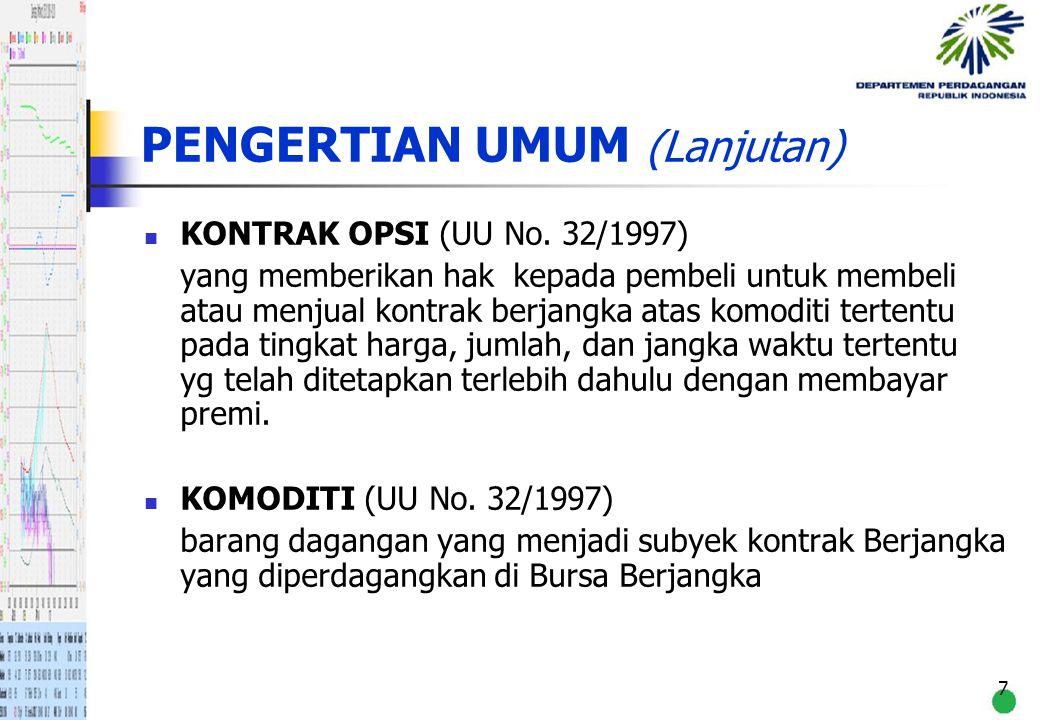 28 PENUTUP Indonesia sebagai produsen/eksportir utama untuk beberapa komoditi primer di dunia.
