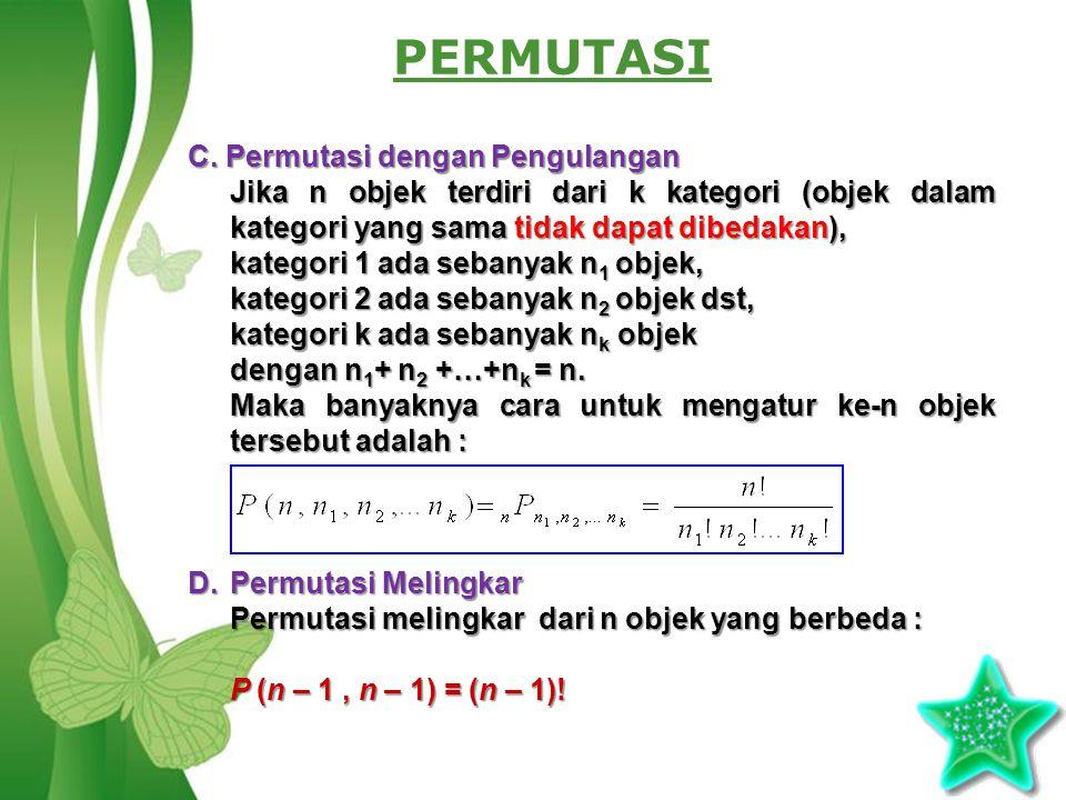 Free Powerpoint TemplatesPage 3 PERMUTASI C.