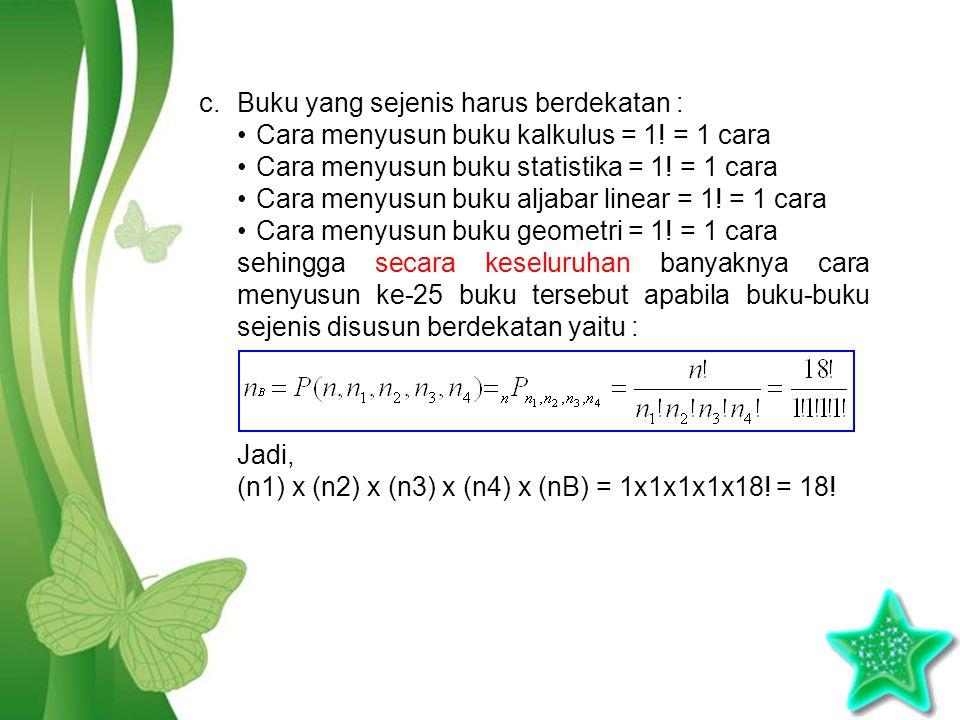 Free Powerpoint TemplatesPage 6 c.Buku yang sejenis harus berdekatan : Cara menyusun buku kalkulus = 1.