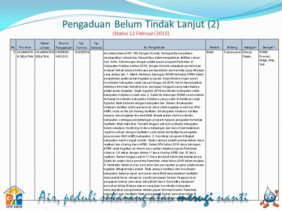 Pengaduan Belum Tindak Lanjut (2) (Status 12 Februari 2015)