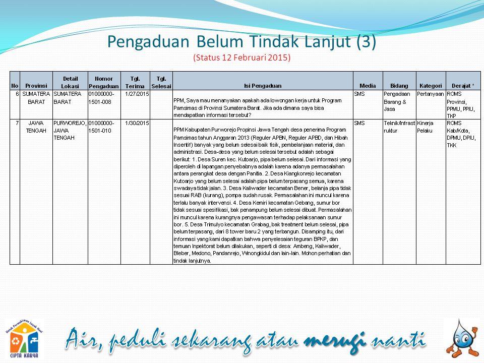 Pengaduan Belum Tindak Lanjut (3) (Status 12 Februari 2015)