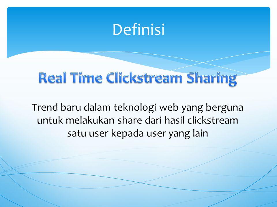 Definisi Trend baru dalam teknologi web yang berguna untuk melakukan share dari hasil clickstream satu user kepada user yang lain