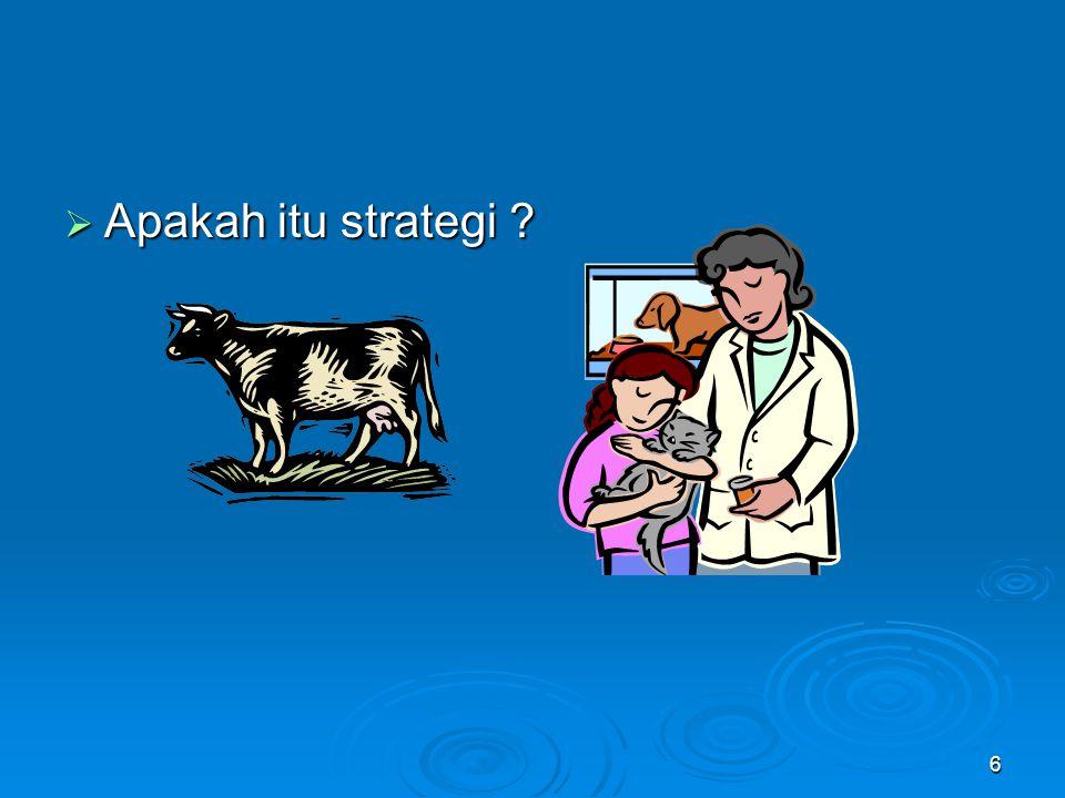 6  Apakah itu strategi ?