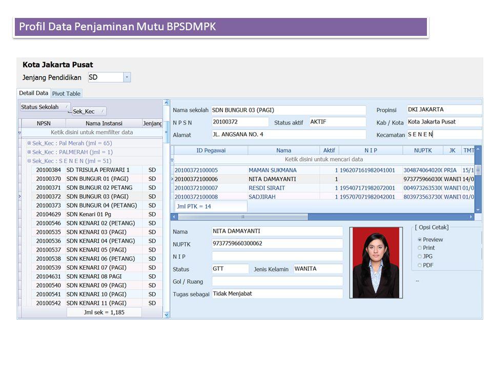 Profil Data Penjaminan Mutu BPSDMPK