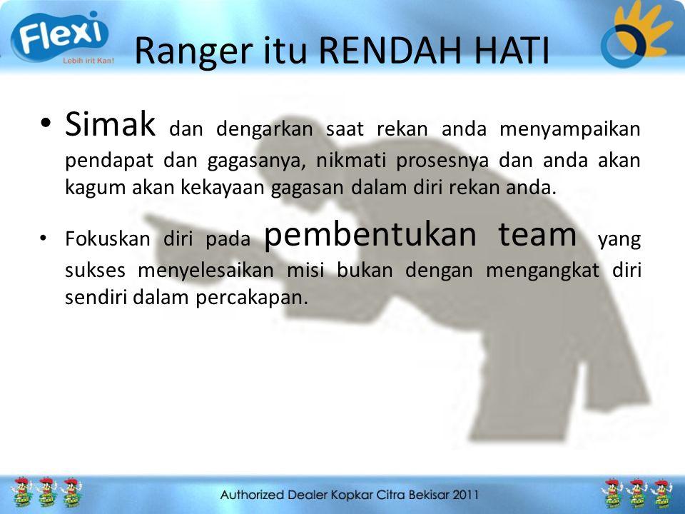 Ranger itu Terfokus Apapun pekerjaan anda, prespektif anda akan sasaran anda menghasilkan perbedaan besar dalam bagaimana anda mengerjakan pekerjaan anda.