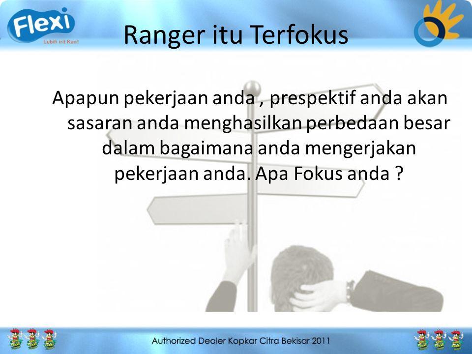 Ranger itu Penuh Tekad Sebagian besar orang kekurangan tekad.