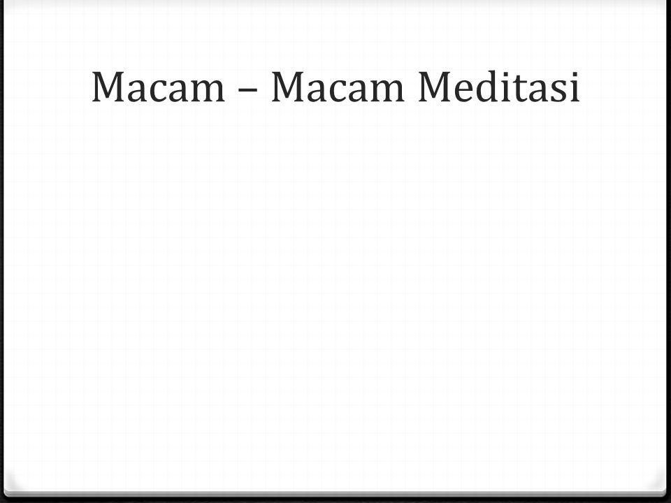 Macam – Macam Meditasi