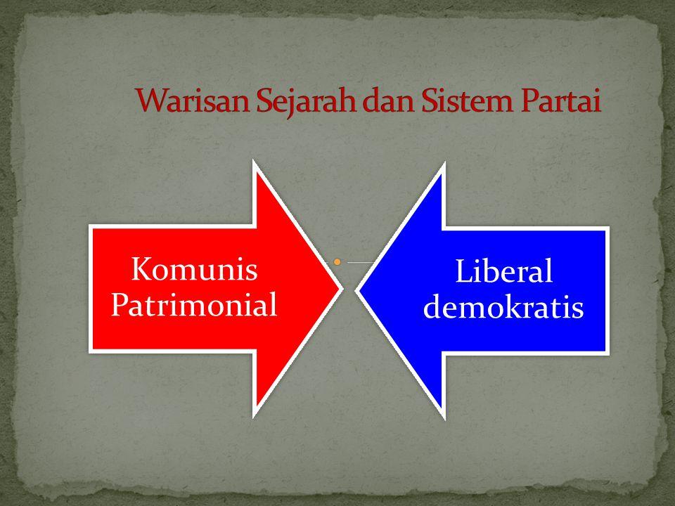 Hasil kepustakaan ilmu pengetahuan politis banyak menjelaskan tentang kondisi, bahwa dimana perjanjian dan sistem partai hanya dikembangkan sebagai rencana.