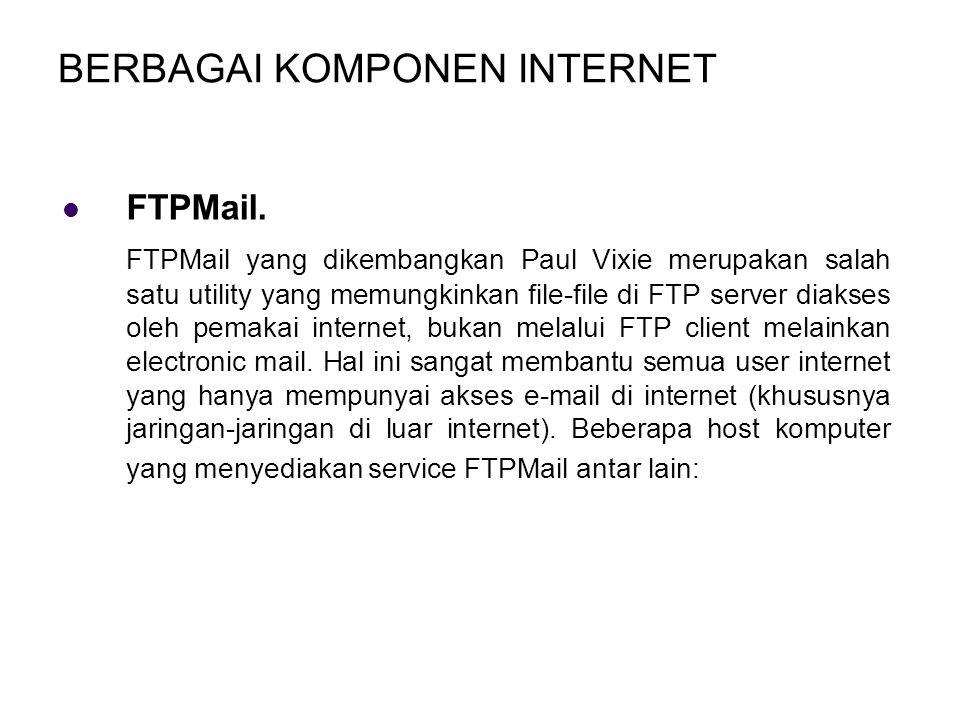 BERBAGAI KOMPONEN INTERNET FTPMail.
