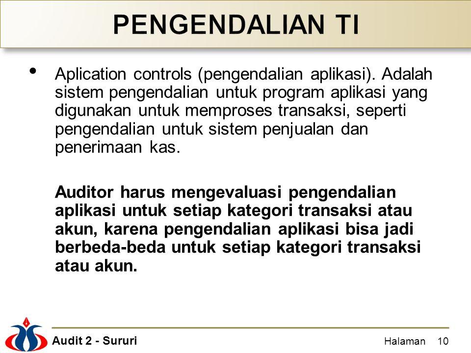 Audit 2 - Sururi Aplication controls (pengendalian aplikasi).