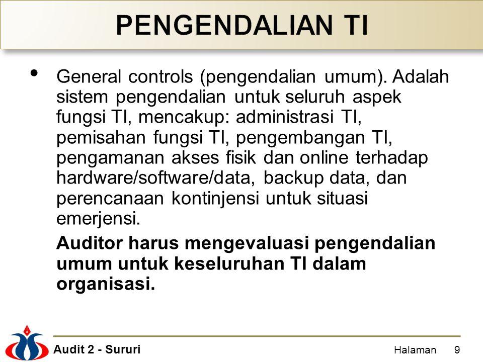 Audit 2 - Sururi General controls (pengendalian umum).