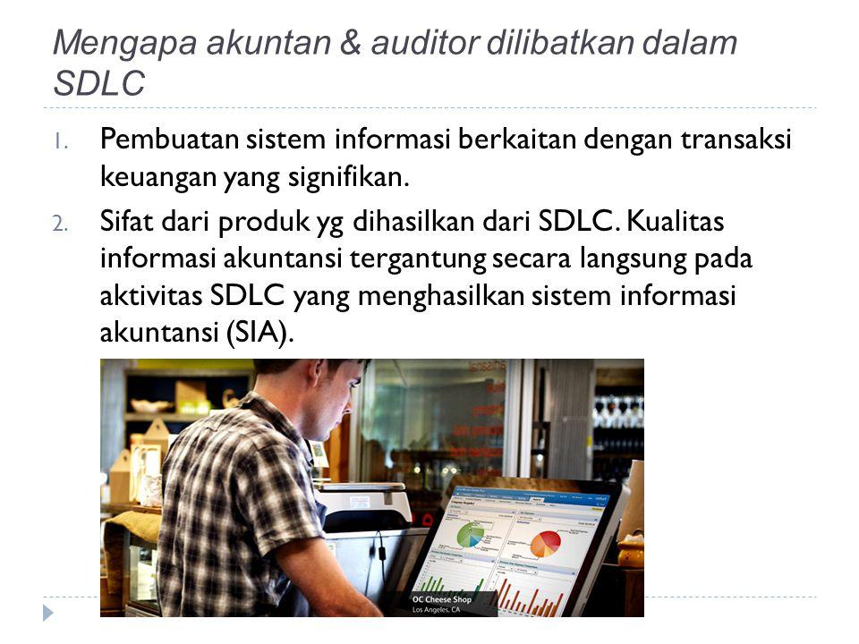 Mengapa akuntan & auditor dilibatkan dalam SDLC 1.