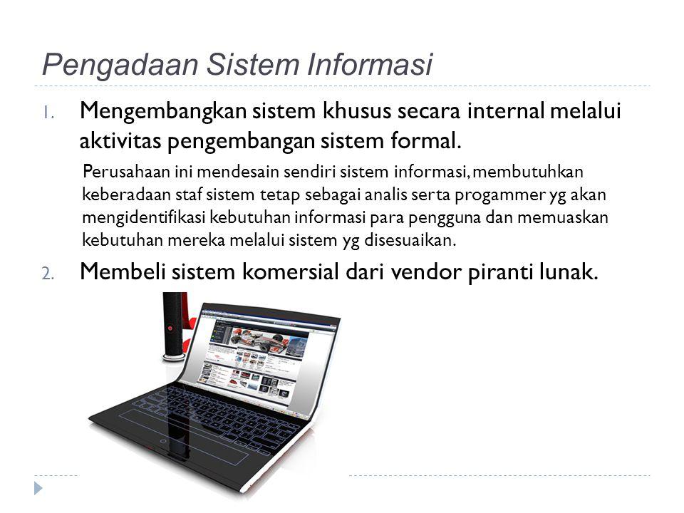 Sistem komersial Faktor yg mendorong pertumbuhan pasar piranti lunak komersial : 1.
