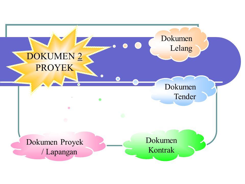 DOKUMEN 2 22 2 PROYEK Dokumen Proyek / Lapangan Dokumen Kontrak Dokumen Tender Dokumen Lelang