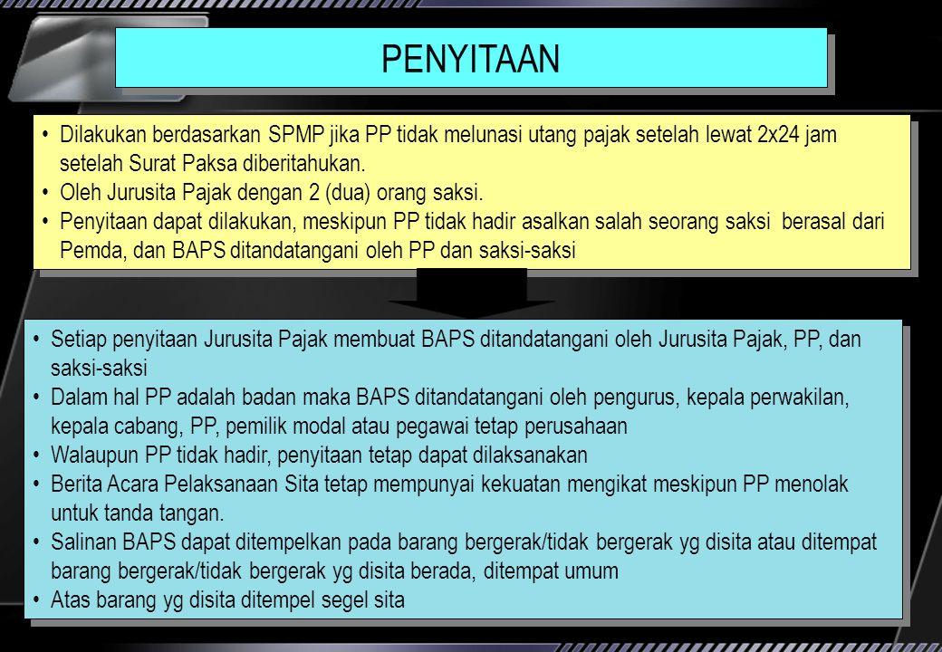 SURAT PAKSA (Ps 7 PPSP jo PS.15 PMK NO 24/PMK.03/2008 Mempunyai kekuatan eksekutorial. Kedudukan hukum Surat Paksa = putusan pengadilan yang telah mem