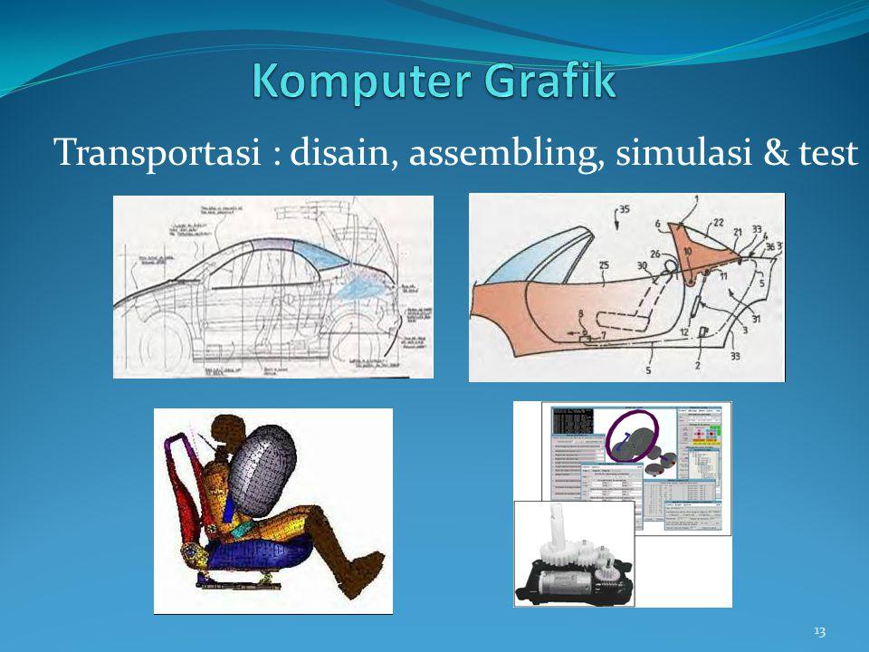 13 Transportasi : disain, assembling, simulasi & test