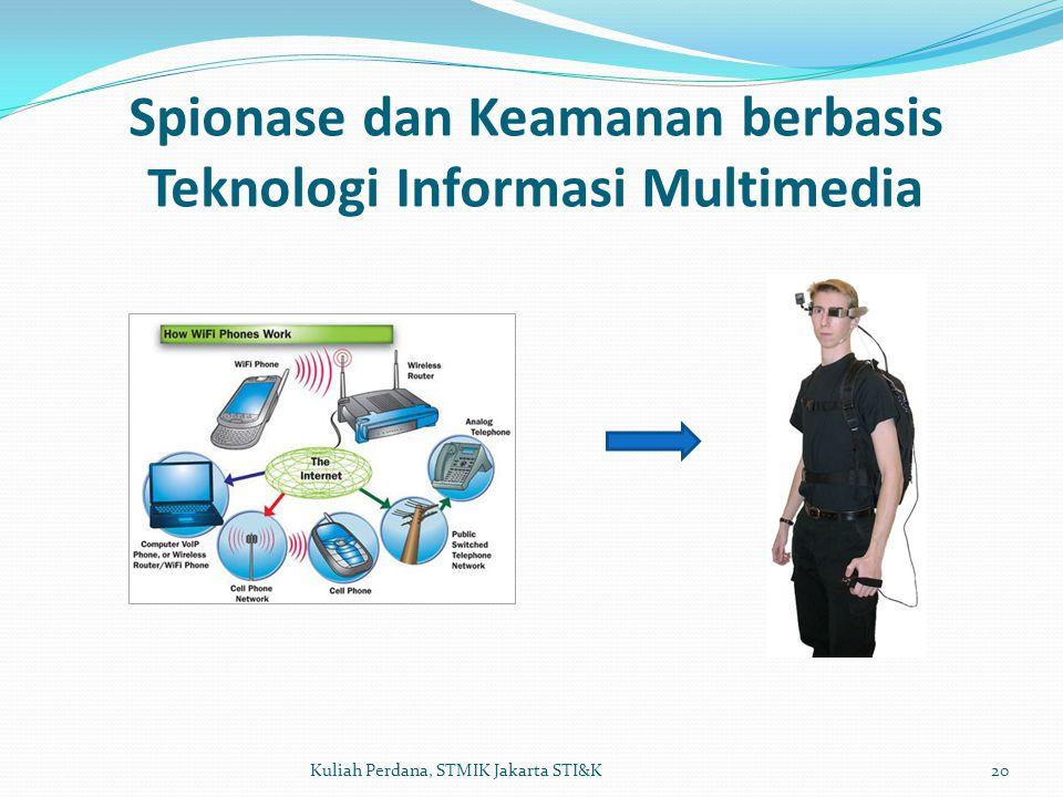 Spionase dan Keamanan berbasis Teknologi Informasi Multimedia 20Kuliah Perdana, STMIK Jakarta STI&K