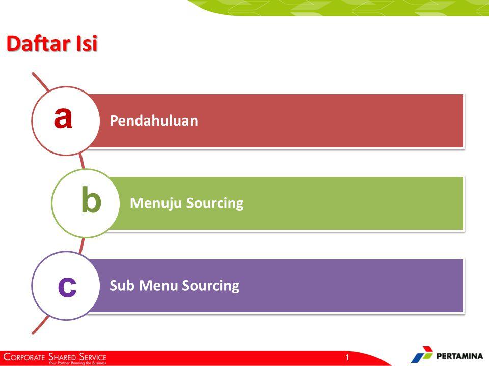 2 Sourcing merupakan Proses pemilihan penyedia barang & jasa secara online Pendahuluan