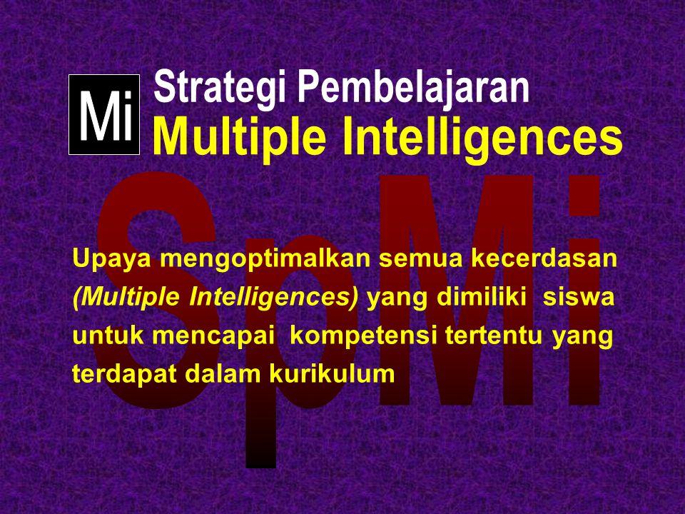 Upaya mengoptimalkan semua kecerdasan (Multiple Intelligences) yang dimiliki siswa untuk mencapai kompetensi tertentu yang terdapat dalam kurikulum
