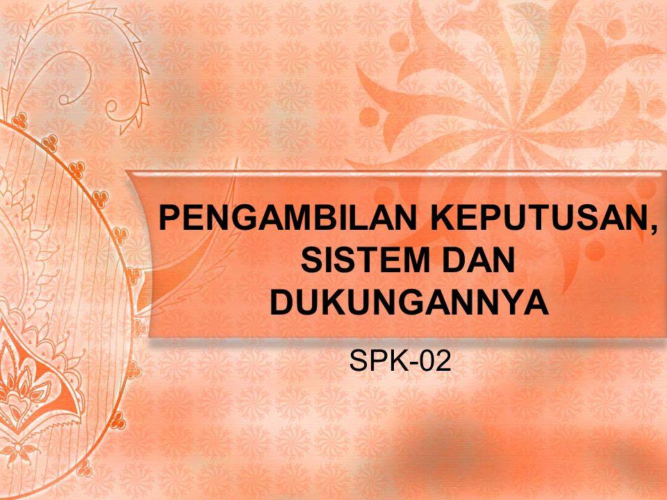PENGAMBILAN KEPUTUSAN, SISTEM DAN DUKUNGANNYA SPK-02