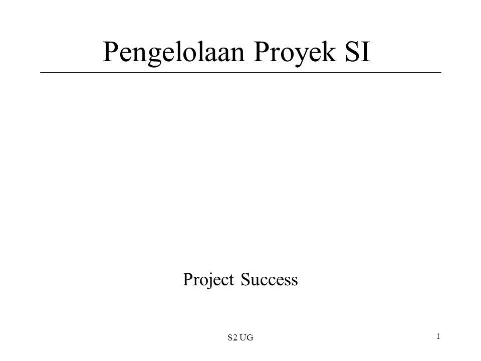 S2 UG 1 Pengelolaan Proyek SI Project Success