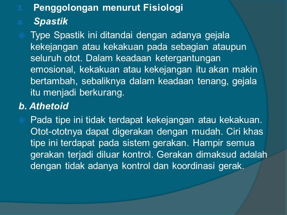 3.Penggolongan menurut Fisiologi a.