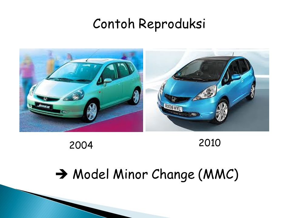 Contoh Reproduksi 2004 2010  Model Minor Change (MMC)