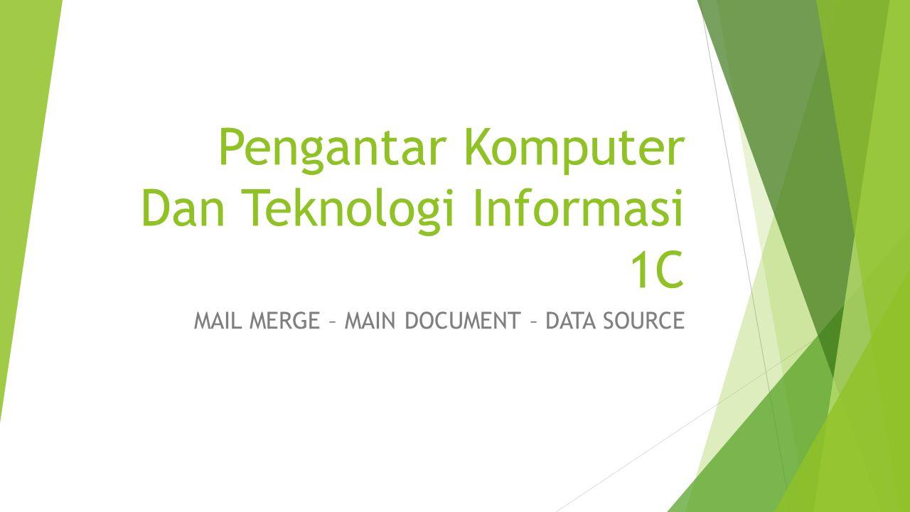 Step By Step Using Mail Merge in Microsoft Office Word 2007  Buka Program atau Aplikasi Microsoft office Word 2007  Setelah itu, ketiklah Sebuah Surat (Main Document) yang ditujukkan kepada beberapa orang, contoh :