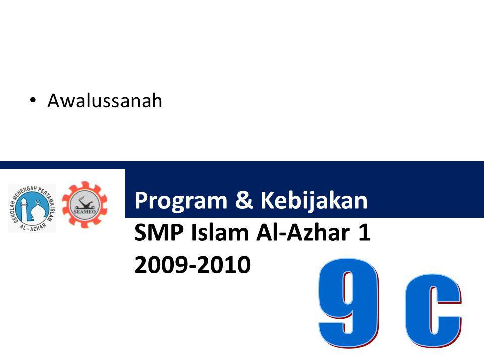 Program & Kebijakan SMP Islam Al-Azhar 1 2009-2010 Awalussanah
