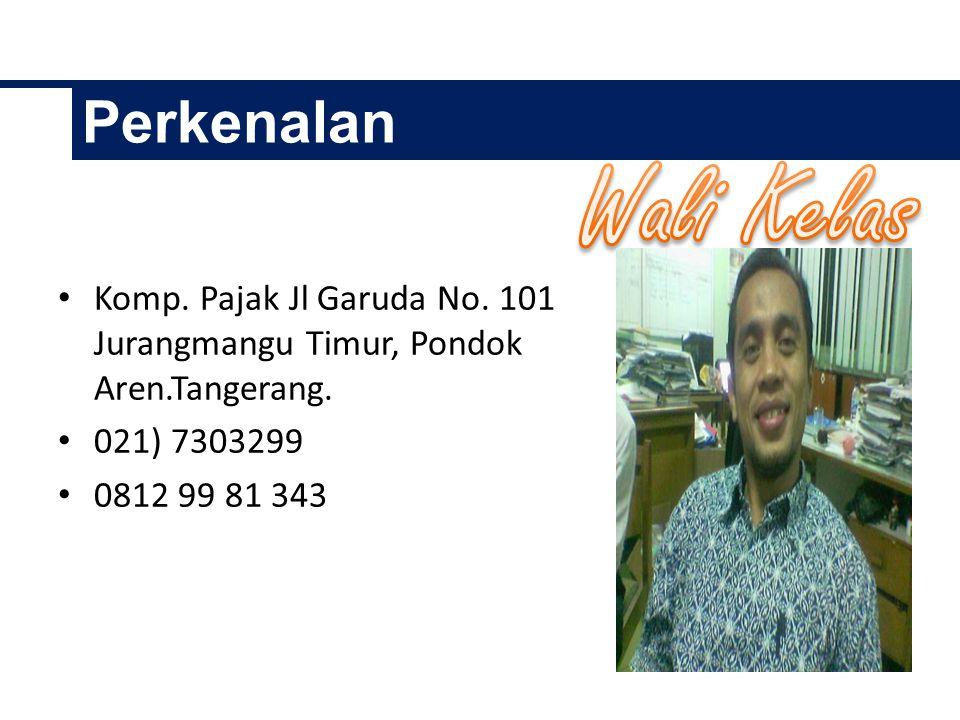 Perkenalan Komp.Pajak Jl Garuda No. 101 Jurangmangu Timur, Pondok Aren.Tangerang.